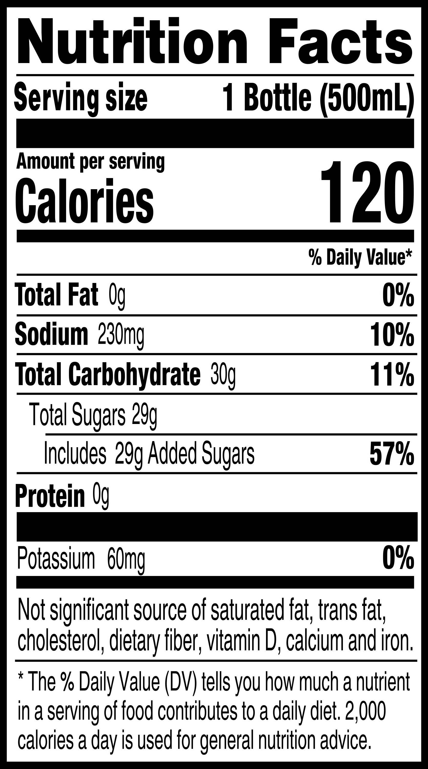 Reading food labels: Didn't realize how much sugar in Gatorade