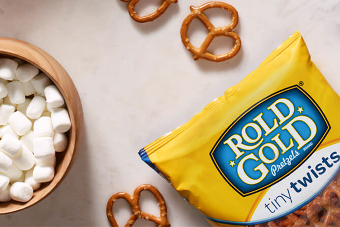 S'mores Treats with ROLD GOLD® Pretzels decoration image